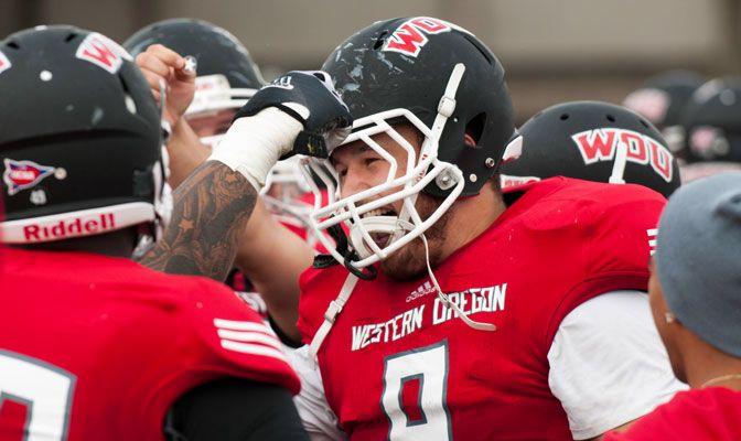 Kraig Akins leads Western Oregon in both tackles (46) and sacks (3.5) this season.