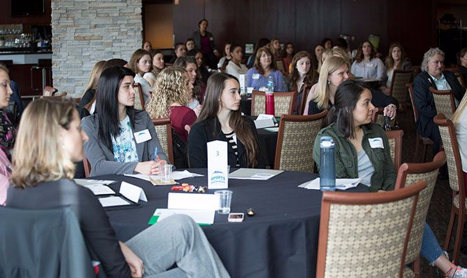 A sold-out audience attended the third Women In Sports seminar that was hosted at the Moda Center in Portland, Oregon, by the GNAC. Photo by: Adam Wickham