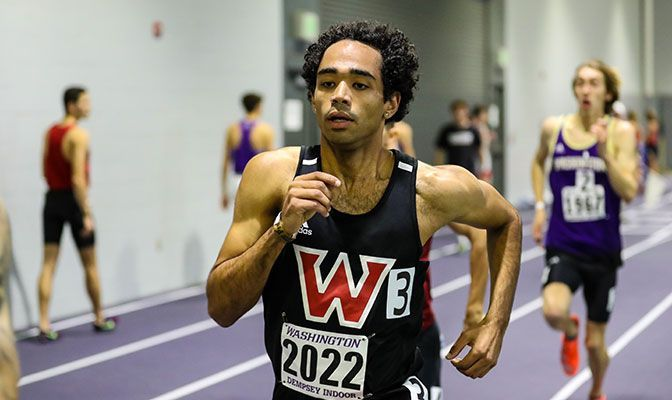 With a time of 1:47.74 at last February's UW Invitational, Derek Holdsworth ran the top indoor 800-meter time in Division II and No. 11 in the U.S. in 2020.