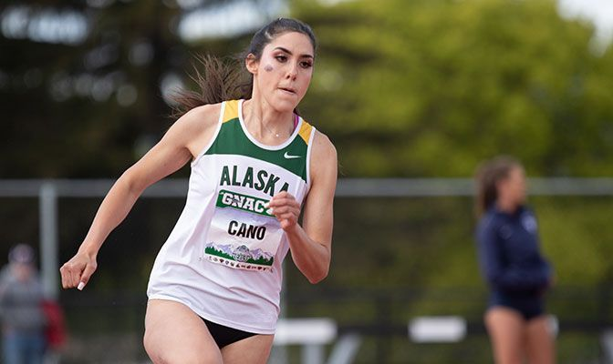 Alaska Anchorage senior Elena Cano was named the GNAC Women's Track Athlete of the Week after four top-three finishes at the WWU Invitational.