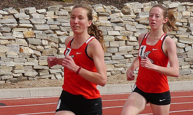 Bethany Danner (left) is one of six All-Academic selections with a 4.00 GPA and one of five four-time selections.