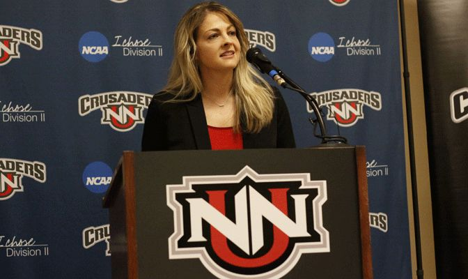 Kelli Lindley was named Northwest Nazarene's full-time athletic director on March 16.