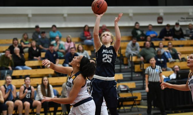 Montana State Billings senior guard Rylee Kane tallied four of the Yellowjackets' final six points to finish with a game and career-high 31.