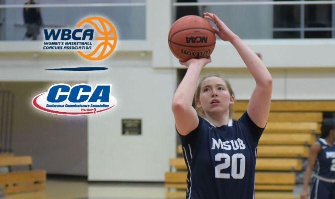 The GNAC and D2CCA West Region Player of the Year, Breen is 11th in Division II with 21.4 points per game. Photo courtesy of Azusa Pacific University.