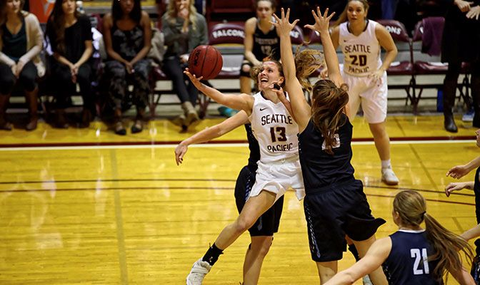 Seattle Pacific's Jordan McPhee was named the GNAC Player of the Week after tallying 51 points and 18 rebounds in the APU West Region Crossover Challenge last weekend.