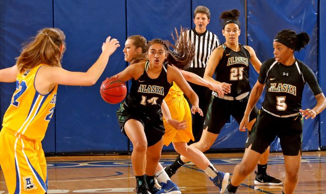 Alaska Anchorage is second in the GNAC in scoring offense (79.1) and leads the league in scoring margin (+18.4), assists (287), steals (195), assist/turnover ratio (1.3) and turnover margin (+7.07).