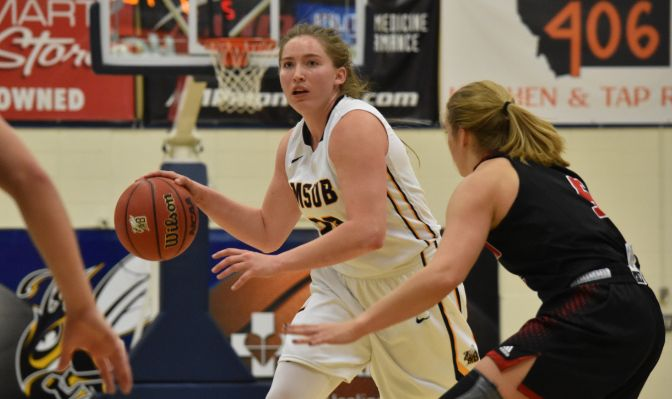 Despite missing the entire 2016-17 campaign with a knee injury, Alisha Breen was named the GNAC Player of the Year after leading the Yellowjackets back to the GNAC Championships this season.