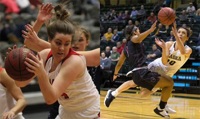 NNU's Danielle Jardine (left) and UAA's Yazmeen Goo (right) look to lead their teams to a GNAC Championships title and an automatic berth to the Division II West Regional tournament.