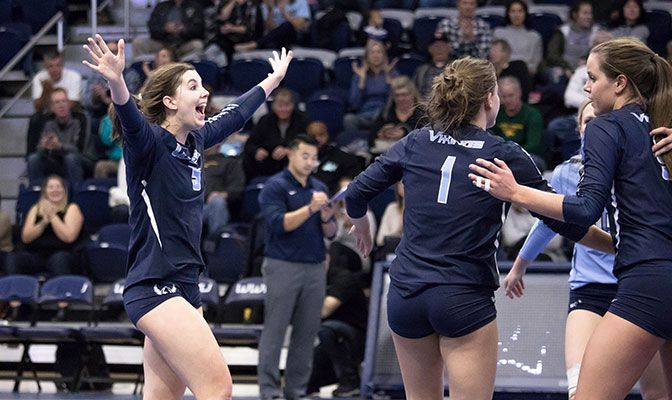 Senior outside hitter Abby Phelps registered her 24th double-double of the season with 14 kills and 21 digs.