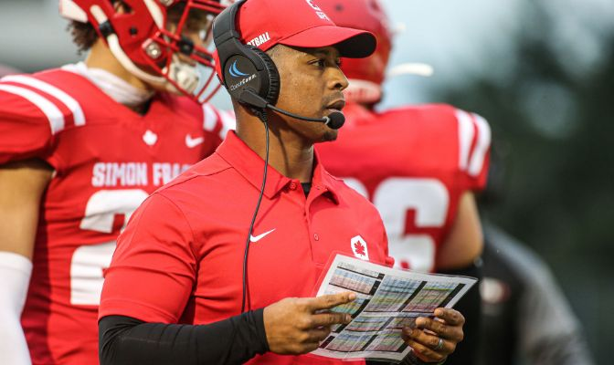 Thomas Ford is in his second season as head coach of the Simon Fraser football program.