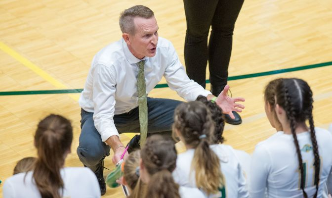 Alaska Anchorage's Chris Green was selected as the 2019 GNAC Volleyball Coach of the Year.