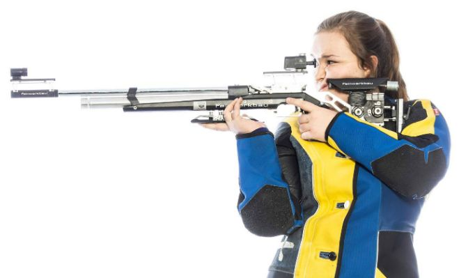 Grace Nelson has a career-best air rifle score of 591. She placed 30th in air rifle and 34th in smallbore at last year's Patriot Rifle Conference Championships.