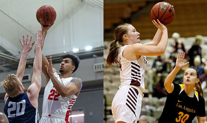 Singh (left) was named to the All-Tournament First Team at the D2 Power Invitational. Bennett lifted SPU to its first two wins of the season.