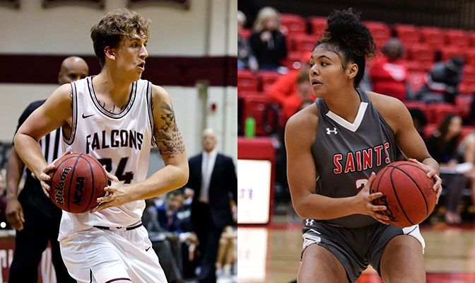 Anderson (left) scored 44 points win SPU wins over Alaska Anchorage and Alaska. Thames averaged a double-double for SMU in games against the Nanooks and Seawolves.