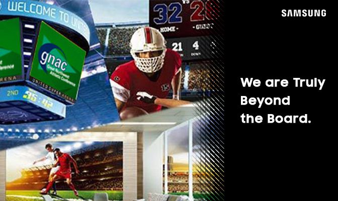Samsung's digital display solutions are found in sports stadiums around the world as well as other well-known high-visiblity business areas.