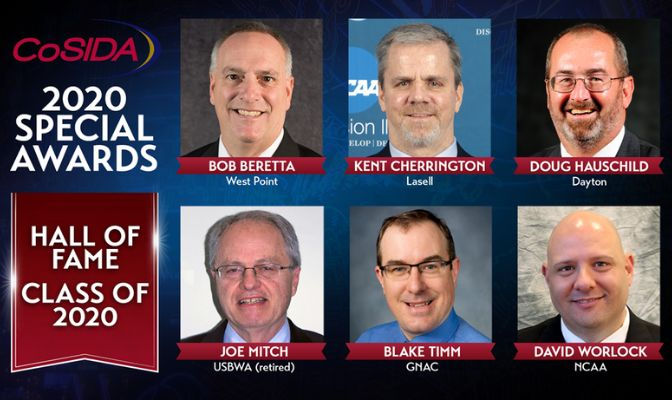 Blake Timm, the GNAC's assistant commissioner for communications, will be among six individuals inducted into the College Sports Information Directors Hall of Fame this June.