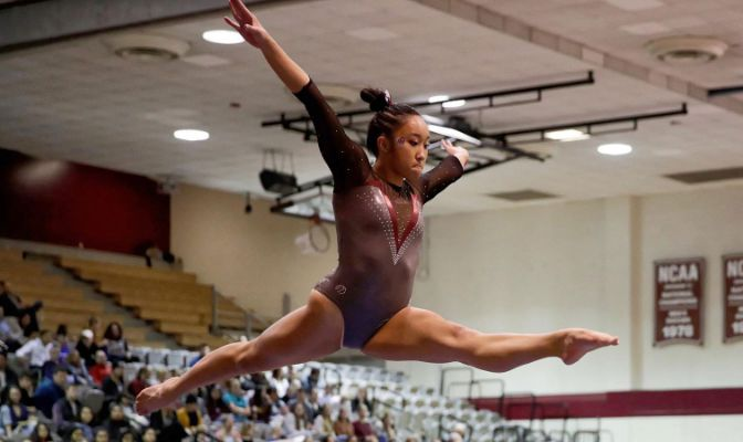 Kayli Tran leads the Falcons with a 3.96 grade point average and was named a 2020 USA Gymnastics Women's Collegiate National Scholar Athlete.