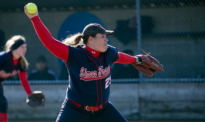 Pitcher Alia Stachoski led Simon Fraser to three wins over Western Washington last week, collecting a win and two saves as the Clan improved to 11-4 on the year.