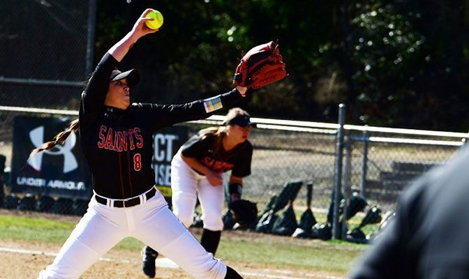 Pitcher Lauren Maley went 5-0 for the Saints at the Tournament of Champions, picking up four of those wins in relief roles.