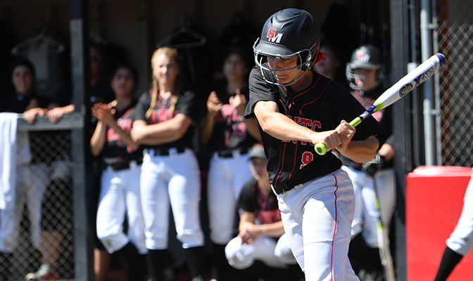 Lindsay Miller leads Saint Martin's with a .373 batting average. The Saints took three of four games last weekend to pull into third place in the GNAC standings.