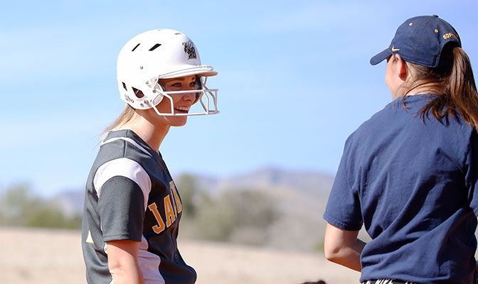 Heather Tracy was named the GNAC Player of the Year after she led the league and finished ranked seventh in Division II with a .488 batting average.