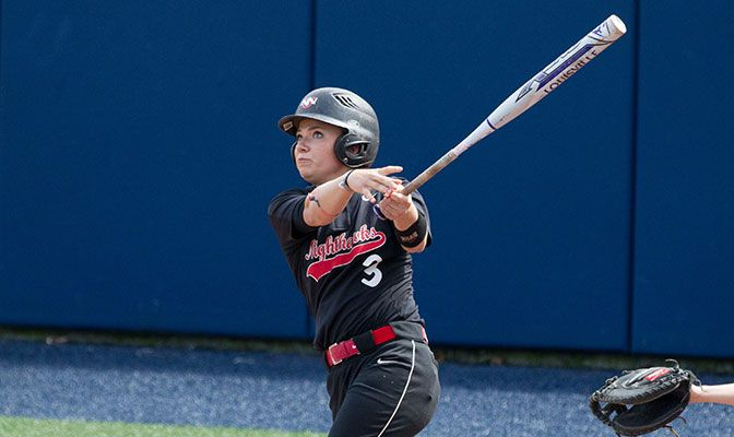 Anna Williams went 3 for 5 and had all four Northwest Nazarene RBIs. Photo by Tyler Kanoa.
