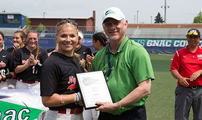 Anna Williams was named the tournament MVP after she went 5 for 10 with six RBIs in the Nighthawks' three games. Photo by Tyler Kanoa.