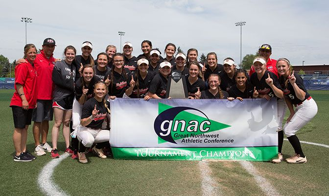 Northwest Nazarene won the championship in its first GNAC Championships appearance and will appear in its first NCAA Division II tournament. Photo by Tyler Kanoa.