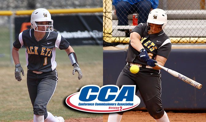 Tracy (left) was named the GNAC Player of the Year while Cassinelli earned First Team All-GNAC honors.