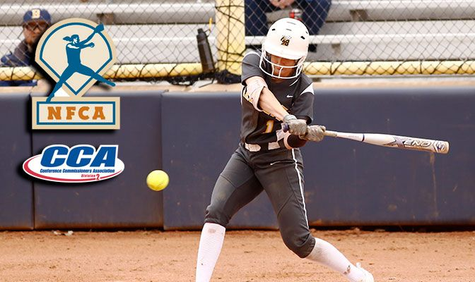 Heather Tracy is the fourth player in GNAC history to be named an All-American by the NFCA and D2CCA in the same year.
