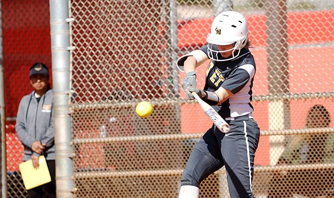 Heather Tracy set the MSUB career hits record at Metro State on Saturday and how has 221 career hits.