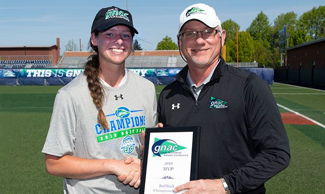 Hannah Self was named the Championships MVP after hitting .500 in the Cavaliers' four games and hit the triple that sparked the five-run fifth inning in Saturday's game two. Photo by Phil Sedgwick.