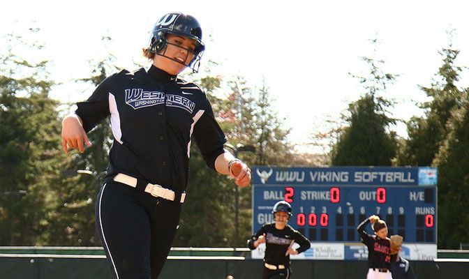 Western Washington's Emily Benson earned D2CCA Player of the Year honors after hitting .448 with 14 home runs and an .896 slugging percentage.