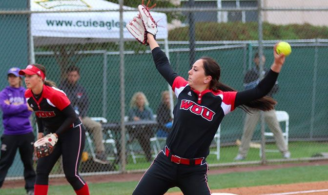 In her 14 innings, Maddie Mayer allowed nine hits and struck out five batters. Photo by Troy Makalena.