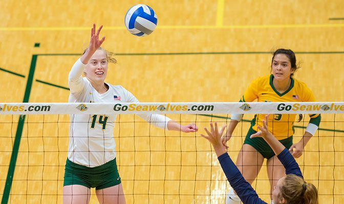 It was Vera Pluharova's blocking ability that impressed Chris Green in 2015. In 2019, she finished 21st in Division II with 1.27 blocks per set.