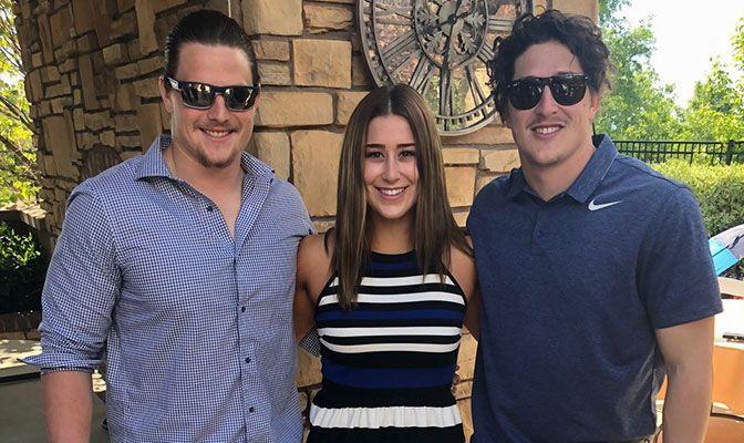 Maddi Vigil has always turned to her older brothers, Nick and Zach, for inspiration and advice for her athletics career.