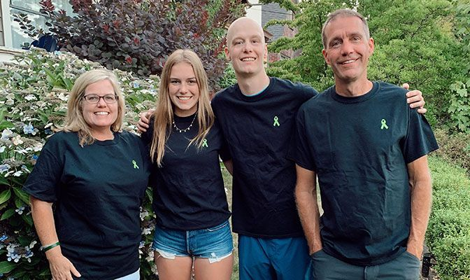 Anna Gable with her family in 2019 following her brother's treatment for Burkitt lymphoma. From left, Jill (mother), Anna, Britt (brother) and Brian (father).