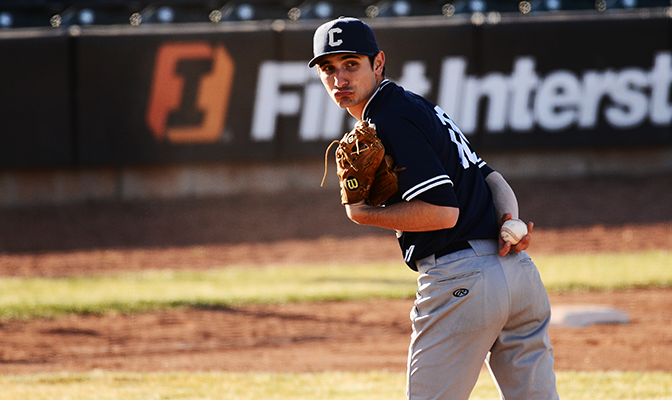 Concordia's Austin Hadley allowed three hits and struck out 11 batters in six innings to beat Montana State Billings.