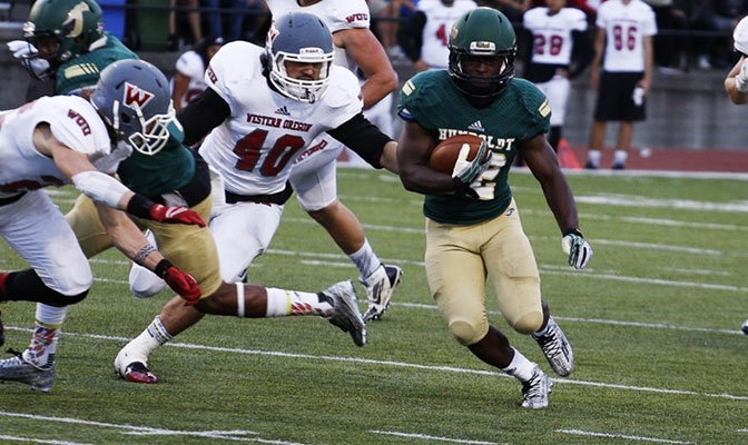 Ja'Quan Gardner was named GNAC Football Offensive Player of the Week after rushing for 201 yards in Humboldt State's win over Western Oregon.