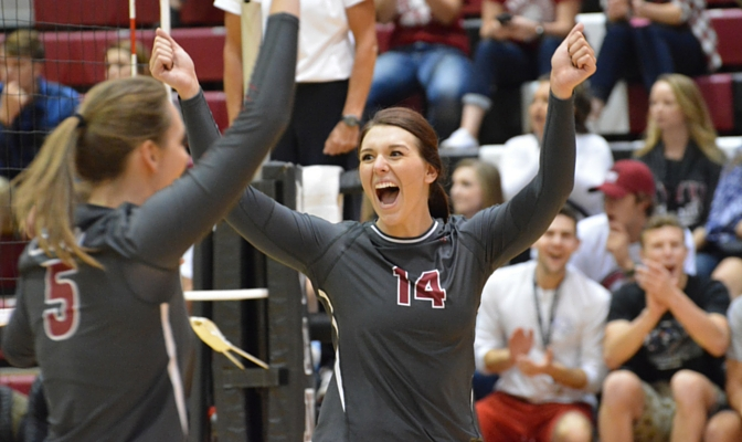 Senior setter Catie Fry is top-four in career assists for CWU and ranks second in the GNAC in 2015.