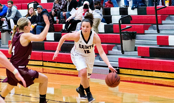 Saint Martin's guard Krista Stabler leads the GNAC with 18.5 points per game.
