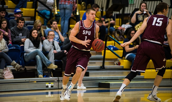 Leavitt leads the Falcons with 7.1 rebounds and 4.9 assists per game as Seattle Pacific heads to Alaska for two games against top GNAC opponents.