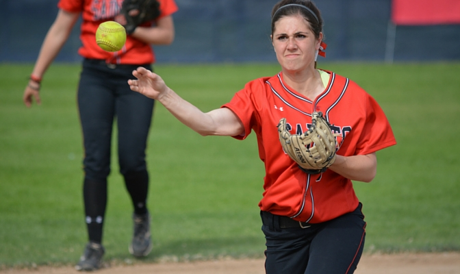Megan Miller is four-year starter for Saint Martin's at third base, as she has helped lead them to a 13-2 start this season.
