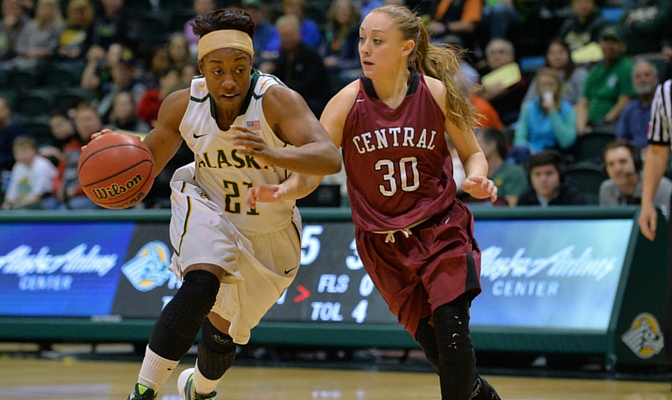 Alaska Anchorage guard Keiahnna Engel was selected the GNAC Women's Basketball Newcomer of the Year.