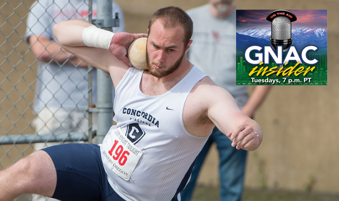 Josh Koch leads the GNAC this season in the shot put after winning the event at the GNAC Indoor Championships earlier this year.