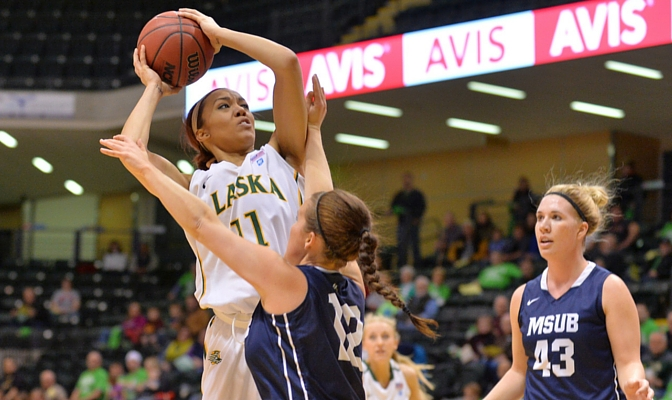 Megan Mullings was the 2014-15 GNAC Newcomer of the Year for Alaska Anchorage.