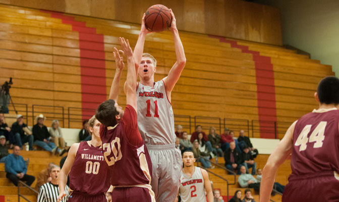 Western Oregon's Adam Hastings (11) is a key part of the Wolves' cohesion and balanced attack.