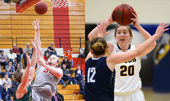 Western Oregon's Andy Avgi and Montana State Billings' Alisha Breen lead their teams to two wins each to stay in first place ties in the GNAC standings.