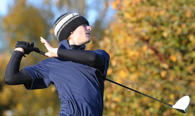 Simon Fraser's Michael Belle finished second last Monday and Tuesday in the Vikes Shootout at Victoria with a 54-hole total of 217.
