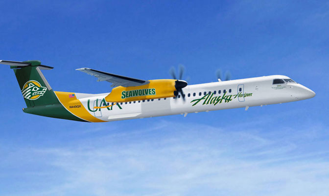 Alaska Airlines will soon unveil planes featuring GNAC members UAA and UAF.